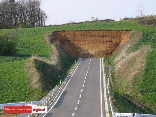 عکس | پایان عجیب یک جاده!