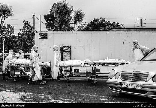 تسجيل 335 حالة وفاة جدیدة بفیروس کورونا في إیران