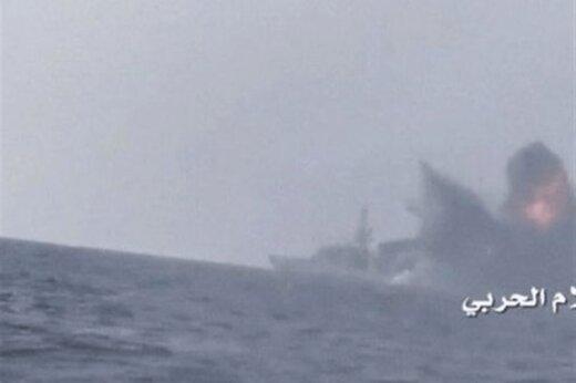 ببینید | آتشسوزی گسترده در پایانه نفتی جنوب عربستان