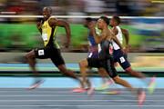 سریعترین مرد دنیا، تماشاگر ویژه منچستریونایتد در اروپا/عکس