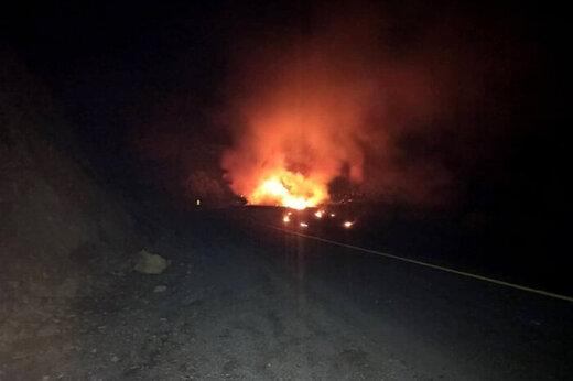 ببینید | تصاویری از انفجار مهیب و مرگبار تانکر سوخت در مسیر سنندج