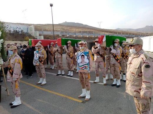 تشییع پیکر شهدای مرزبانی آذربایجانغربی