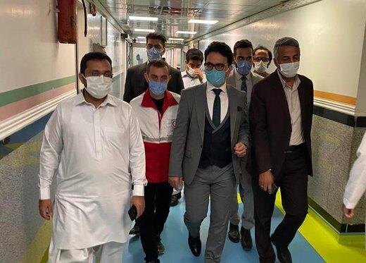 اعزام ۱۵ بیمار به بیمارستان بقیهالله اعظم تهران توسط منطقه آزاد چابهار