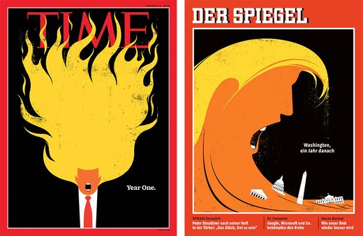 تصاویر جنجالی ترامپ روی جلد مجلهها