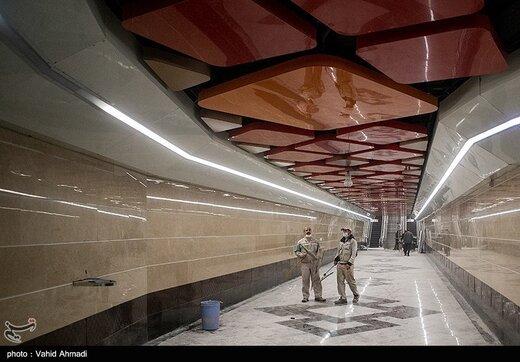 ایستگاه متروی برج میلاد در آستانه افتتاح