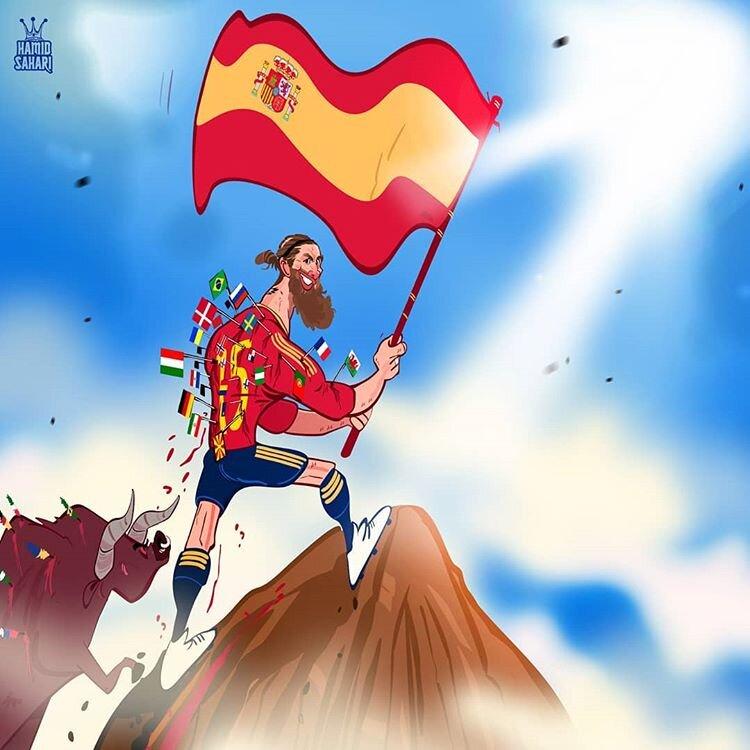 ببینید: راموس بر قله اروپا ایستاد!