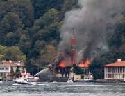 ببینید | اتفاق یا خرابکاری؛ آتشسوزی بزرگ در مسجد مهم استانبول