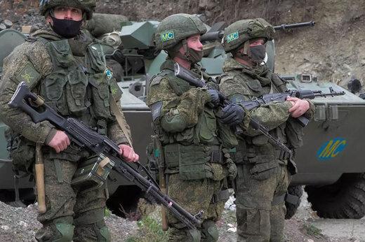 ببینید | ایست بازرسی در قرهباغ توسط صلحبانان روسی