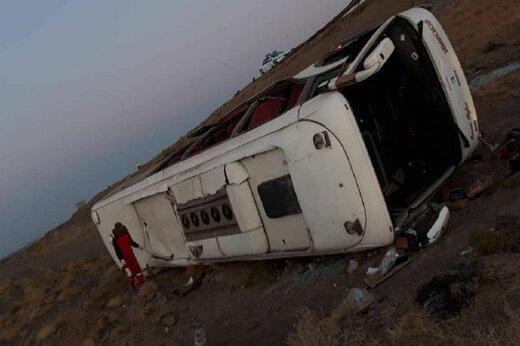 ببینید | ۴کشته و ۱۴مصدوم در واژگونی اتوبوس در اصفهان