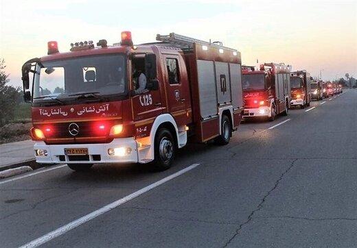 کپسولهای C.N.G در جاده مخصوص کرج آتش گرفتند