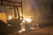 ببینید | تصاویری از حملات موشکی دیشب به سفارت آمریکا