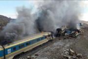 ببینید | اولین تصاویر از تصادف دو قطار در قزوین