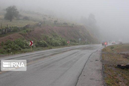 بارندگی در جادههای شمالی ادامه دارد