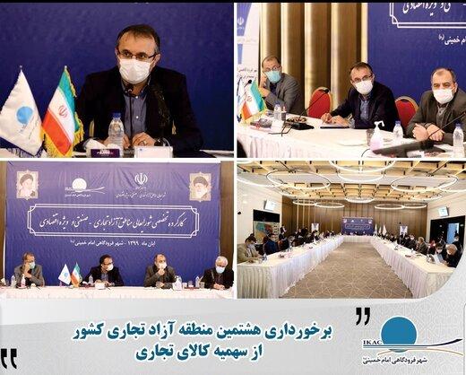 جلسه کارگروه تخصصی شورای عالی مناطق آزاد و ویژه اقتصادی امروز در شهر فرودگاهی امام خمینی(ره) برگزار شد