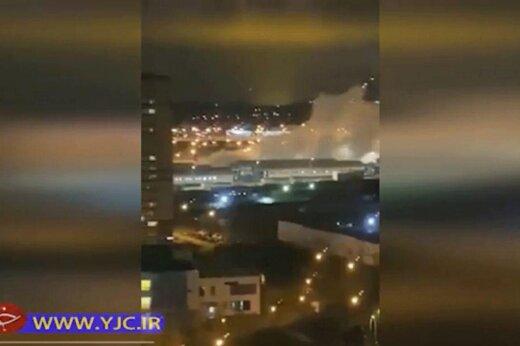 ببینید | انفجار در بیمارستان بیماران کرونایی در مسکو