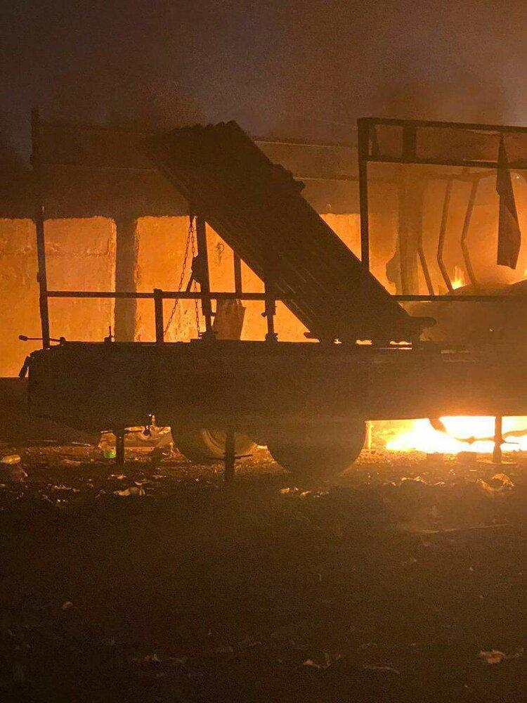 تصاویری از حملات موشکی دیشب به منطقه سبز بغداد و سفارت آمریکا