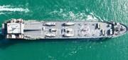 تصویری از جدیدترین دستاورد نیروی دریایی سپاه با قابلیت حمل موشک و پهپاد
