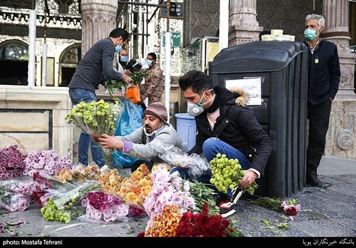 گل آرایی حرم حضرت عبدالعظیم(ع)