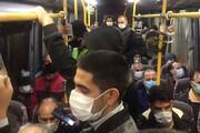 عکس | شلوغی اتوبوسهای شهری در روز اول محدودیتهای جدید کرونایی