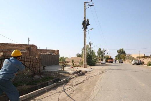 اصلاح و بهینه سازی خطوط وتاسیسات توزیع برق روستای حسین آباد دراستان سمنان