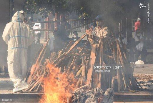 کورههای سوزاندن قربانیان کرونا در هند