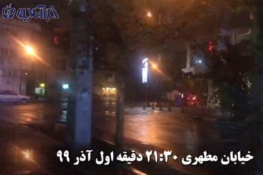 ببینید | وضعیت خیابان ولیعصر تهران بعد از آغاز طرح ممنوعیت تردد ۹ شب