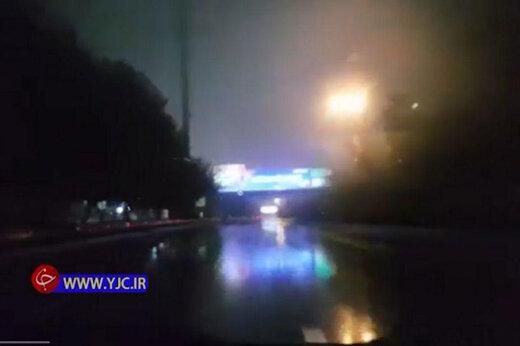 ببینید | اتوبان همت غرب به شرق در ساعت نخست محدودیت تردد در خیابانهای تهران
