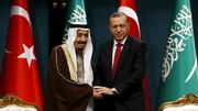 اردوغان به شاه سعودی تبریک گفت