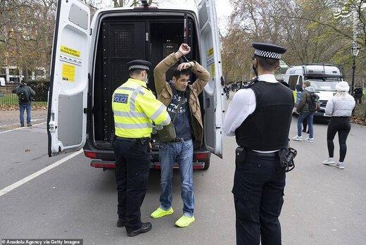 خشونت پلیس لیورپول علیه مخالفان قرنطینه