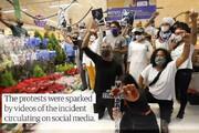 ببینید | آشوب در برزیل به دلیل قتل یک سیاهپوست در سوپرمارکت توسط نیروهای امنیتی