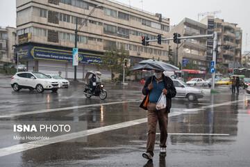 بارش پراکنده در ۶ استان کشور