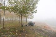 ببینید | زیباییهای همدان زیر سایه هوای مه آلود