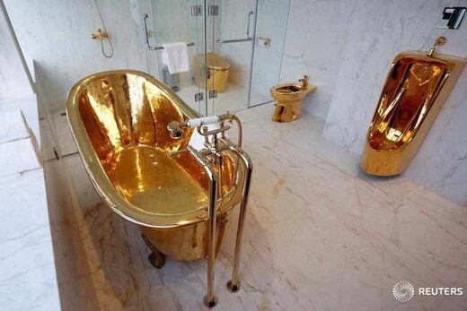 تصاویر یک هتل عجیب را که از طلا ساخته شده است ببینید