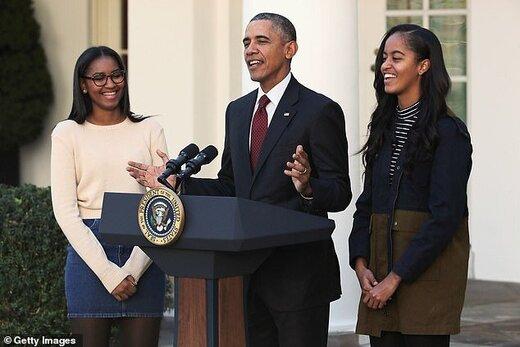 حضور دختران اوباما در تظاهرات سراسری نژادپرستی