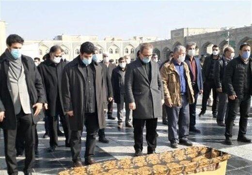 پیکر محمد خادم در جوار بارگاه امام رضا (ع) به خاک سپرده شد