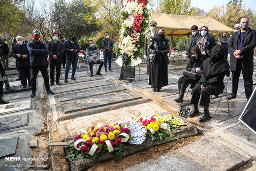 مراسم خاکسپاری مرحوم چنگیز جلیلوند