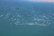 ببینید | رژه ۱۰۰۰شناور بسیج دریایی در تنگه هرمز