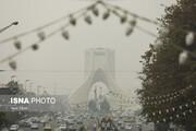 تصاویر | تهران در مه
