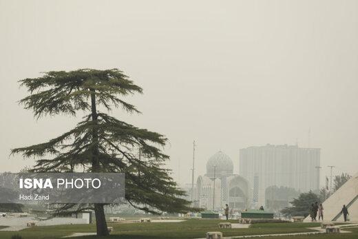 تهران در مه