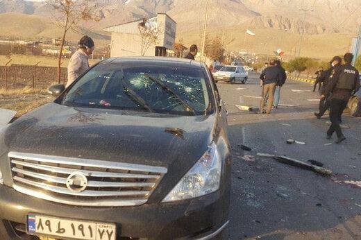 ببینید | ویدیویی تلخ از اصابت گلولههای زیاد تروریستها به خودروی شهید فخریزاده