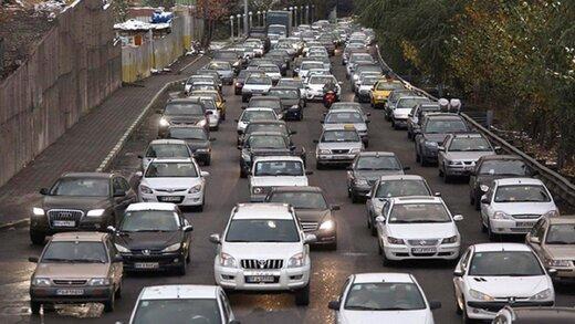 ترافیک صبحگاهی در بزرگراه همت، حکیم و هاشمی رفسنجانی