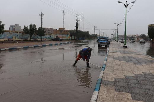 معدل مدیریت شهری آبادان میزان بارندگی بر میلیمتر