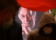 عکس | فاطمه معتمدآریا در مراسم خاکسپاری پرویز پورحسینی