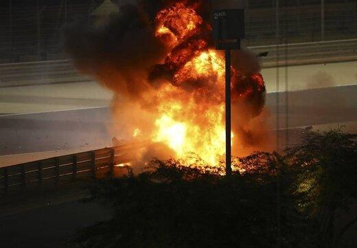 حادثه وحشتناک در فرمول یک بحرین /عکس