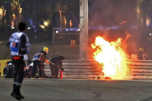 ببینید | فوری؛ اولین تصاویر از تصادف وحشتناک راننده فرانسوی فرمول یک
