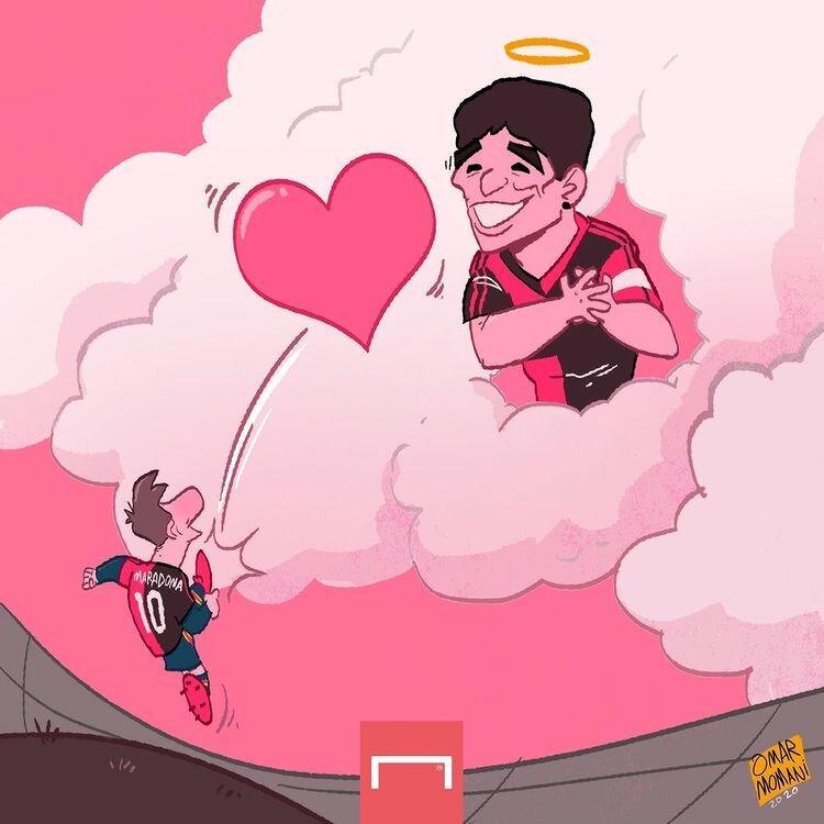 ببینید: پیام مسی به مارادونا رسید!