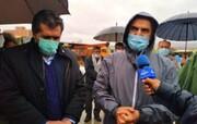 بازدید بارانی استاندار از برخی معابر و محلات شهر یاسوج