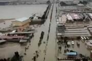 ببینید | تصاویر هوایی از حجم بالای سیلاب و آبگرفتی معابر در شهر چمران ماهشهر
