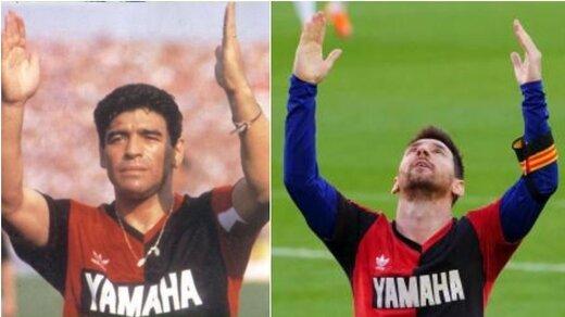 ادای احترام خاص مسی به مارادونا برای بارسلونا ۳ هزار یورو تمام شد!