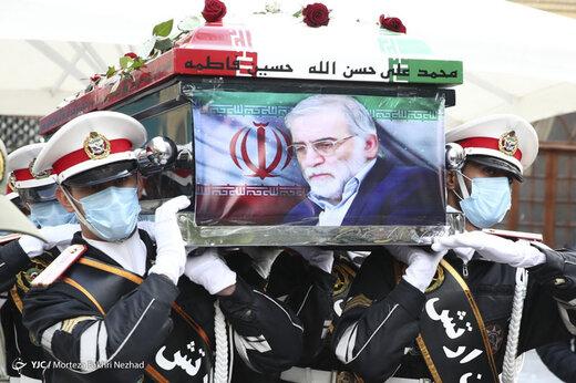 تصاویر | آیین خاکسپاری دانشمند شهید محسن فخری زاده